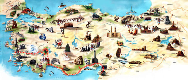 Travel in Turkey - Mediterranean Turkey - Travel Report