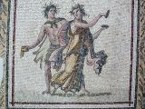 Mosaic depicting drunken Dionysos