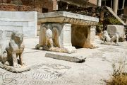 Recycled Roman altar with eagles and lions