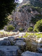 Myra necropolis with rock-tombs