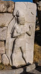 Hattuşa Relief of warrior god (copy)