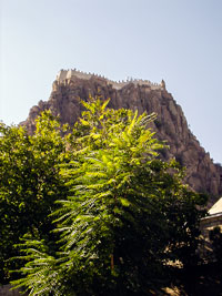 Afyon - The fortress on top of a volcanic rock dominates the city
